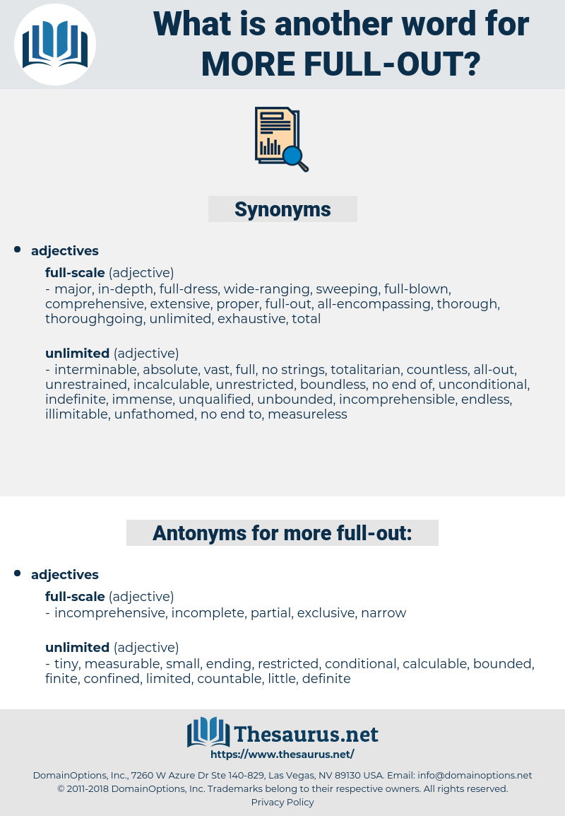 more full-out, synonym more full-out, another word for more full-out, words like more full-out, thesaurus more full-out