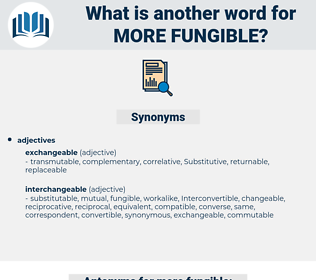 more fungible, synonym more fungible, another word for more fungible, words like more fungible, thesaurus more fungible