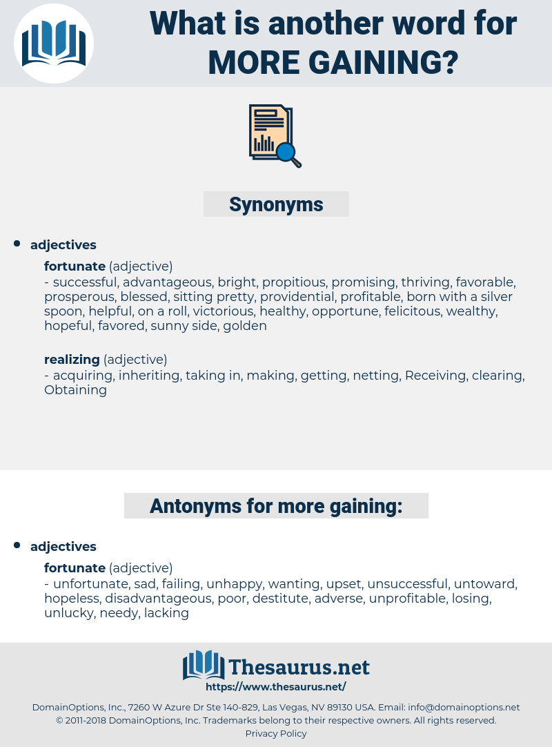 more gaining, synonym more gaining, another word for more gaining, words like more gaining, thesaurus more gaining