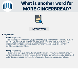 more gingerbread, synonym more gingerbread, another word for more gingerbread, words like more gingerbread, thesaurus more gingerbread