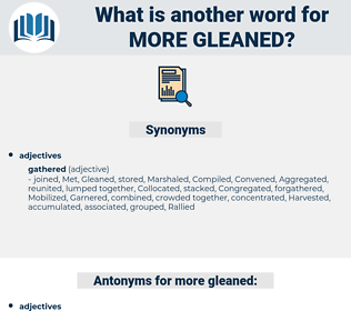 more gleaned, synonym more gleaned, another word for more gleaned, words like more gleaned, thesaurus more gleaned