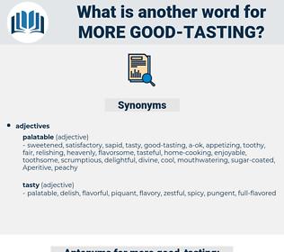 more good tasting, synonym more good tasting, another word for more good tasting, words like more good tasting, thesaurus more good tasting