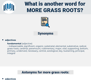 more grass roots, synonym more grass roots, another word for more grass roots, words like more grass roots, thesaurus more grass roots