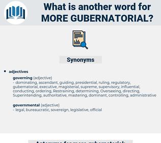more gubernatorial, synonym more gubernatorial, another word for more gubernatorial, words like more gubernatorial, thesaurus more gubernatorial