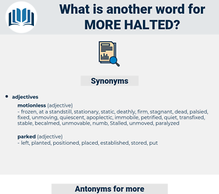 more halted, synonym more halted, another word for more halted, words like more halted, thesaurus more halted