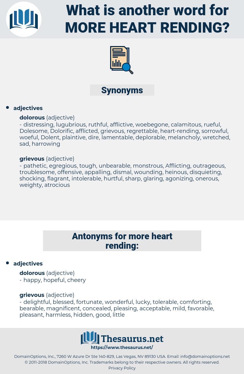 more heart rending, synonym more heart rending, another word for more heart rending, words like more heart rending, thesaurus more heart rending
