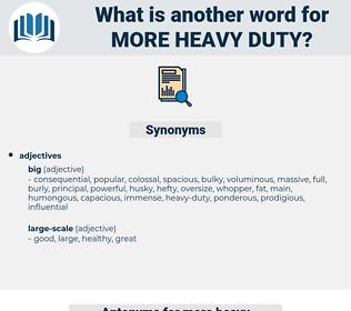 more heavy duty, synonym more heavy duty, another word for more heavy duty, words like more heavy duty, thesaurus more heavy duty
