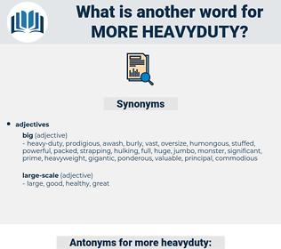 more heavyduty, synonym more heavyduty, another word for more heavyduty, words like more heavyduty, thesaurus more heavyduty