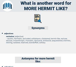 more hermit like, synonym more hermit like, another word for more hermit like, words like more hermit like, thesaurus more hermit like