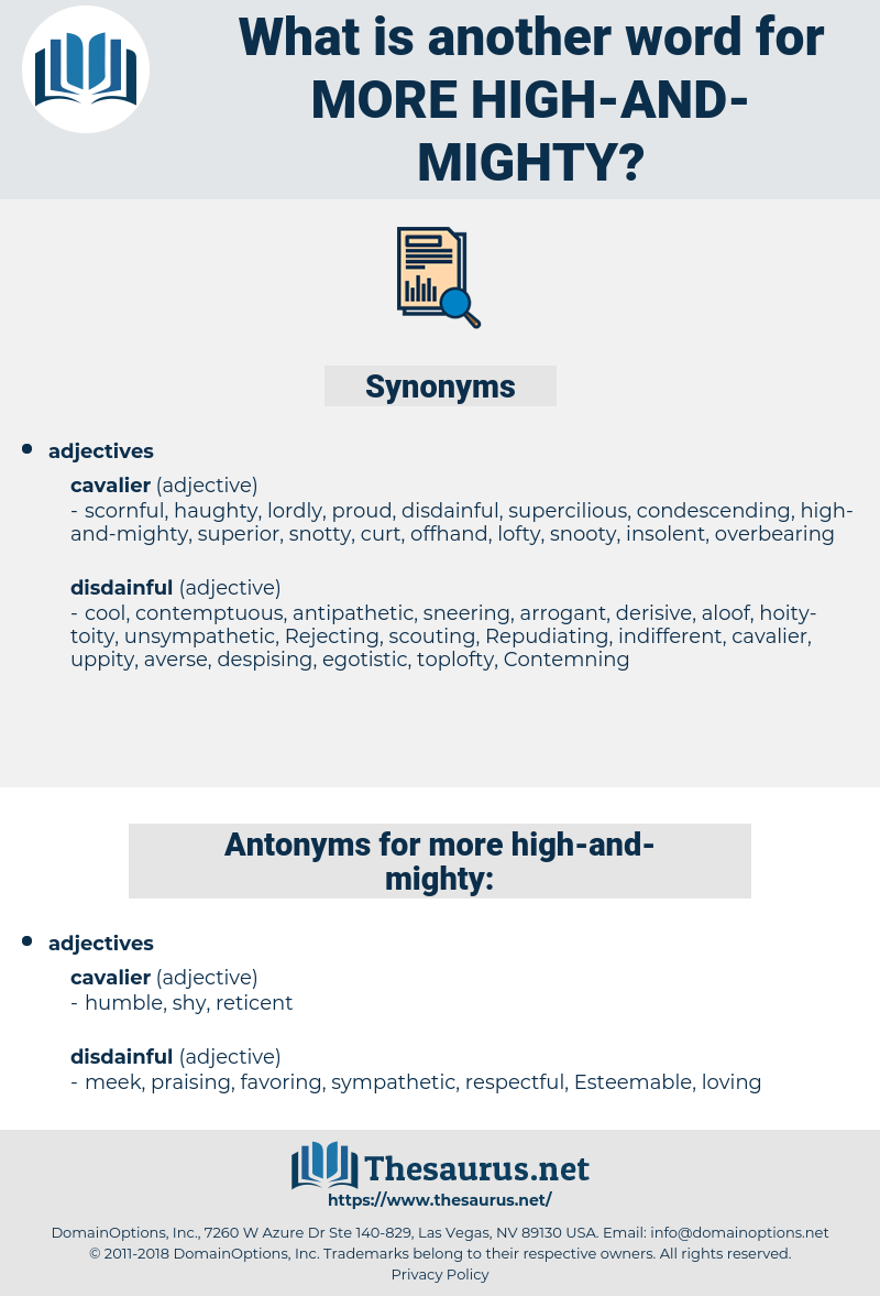 more high-and-mighty, synonym more high-and-mighty, another word for more high-and-mighty, words like more high-and-mighty, thesaurus more high-and-mighty