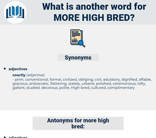 more high-bred, synonym more high-bred, another word for more high-bred, words like more high-bred, thesaurus more high-bred