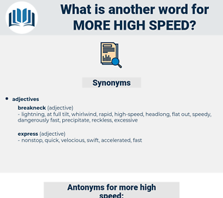 more high-speed, synonym more high-speed, another word for more high-speed, words like more high-speed, thesaurus more high-speed