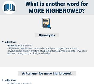 more highbrowed, synonym more highbrowed, another word for more highbrowed, words like more highbrowed, thesaurus more highbrowed