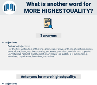 more highestquality, synonym more highestquality, another word for more highestquality, words like more highestquality, thesaurus more highestquality