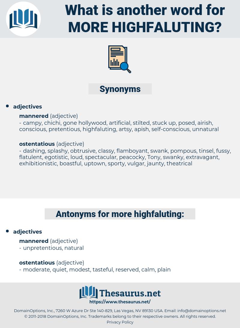 more highfaluting, synonym more highfaluting, another word for more highfaluting, words like more highfaluting, thesaurus more highfaluting