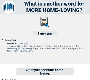 more home loving, synonym more home loving, another word for more home loving, words like more home loving, thesaurus more home loving