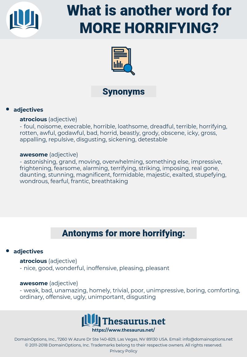more horrifying, synonym more horrifying, another word for more horrifying, words like more horrifying, thesaurus more horrifying