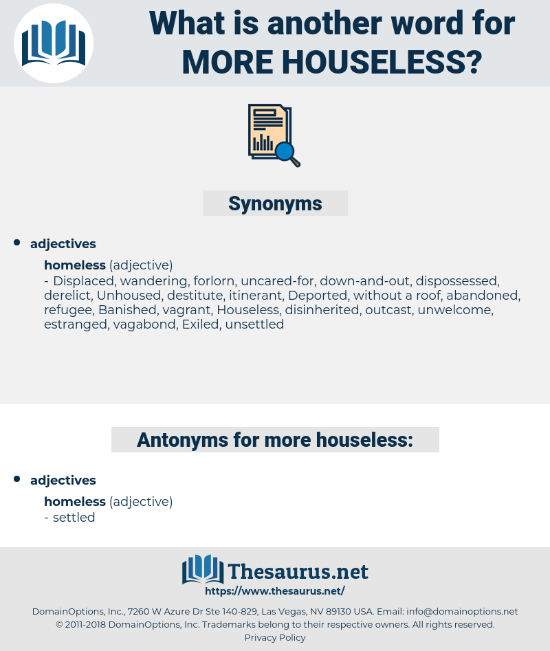 more houseless, synonym more houseless, another word for more houseless, words like more houseless, thesaurus more houseless
