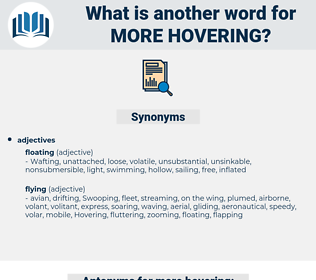 more hovering, synonym more hovering, another word for more hovering, words like more hovering, thesaurus more hovering