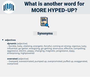 more hyped up, synonym more hyped up, another word for more hyped up, words like more hyped up, thesaurus more hyped up