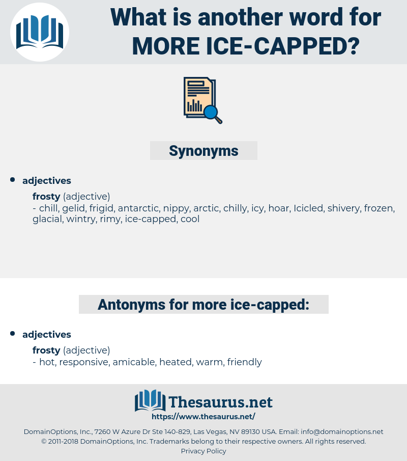 more ice capped, synonym more ice capped, another word for more ice capped, words like more ice capped, thesaurus more ice capped