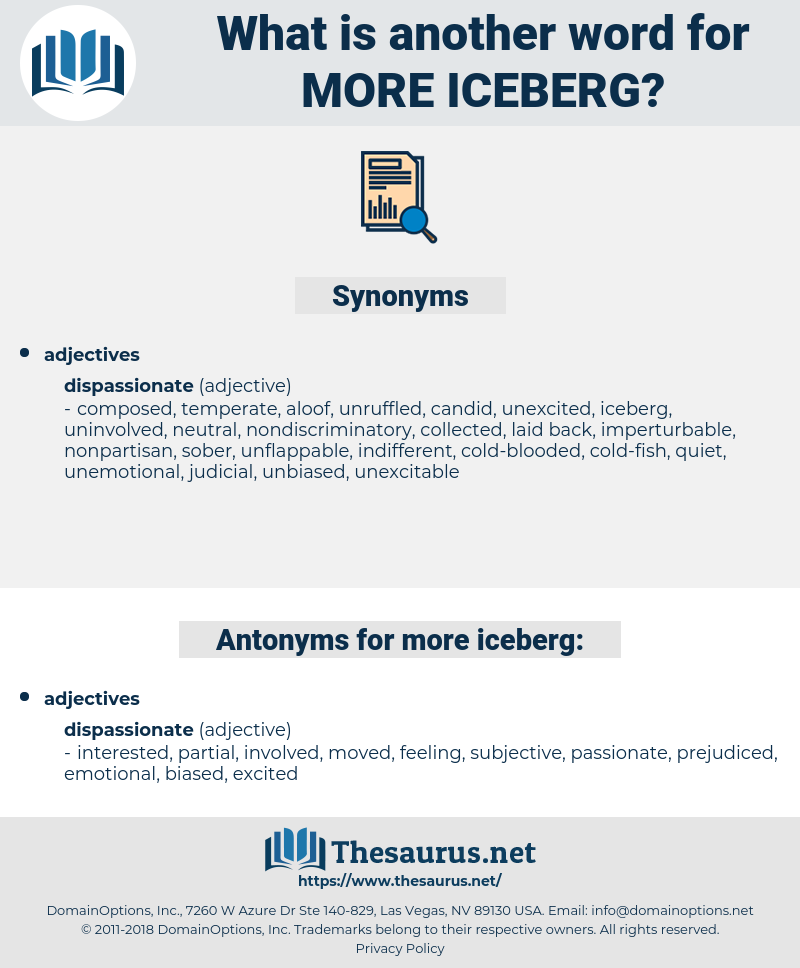 more iceberg, synonym more iceberg, another word for more iceberg, words like more iceberg, thesaurus more iceberg