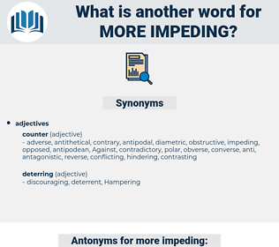 more impeding, synonym more impeding, another word for more impeding, words like more impeding, thesaurus more impeding