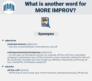 more improv, synonym more improv, another word for more improv, words like more improv, thesaurus more improv