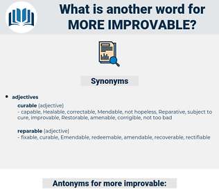 more improvable, synonym more improvable, another word for more improvable, words like more improvable, thesaurus more improvable