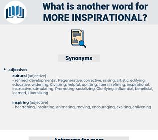 more inspirational, synonym more inspirational, another word for more inspirational, words like more inspirational, thesaurus more inspirational