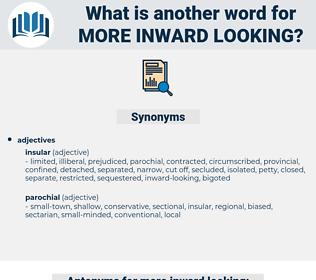 more inward-looking, synonym more inward-looking, another word for more inward-looking, words like more inward-looking, thesaurus more inward-looking