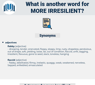 more irresilient, synonym more irresilient, another word for more irresilient, words like more irresilient, thesaurus more irresilient