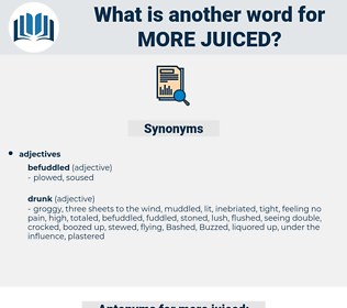 more juiced, synonym more juiced, another word for more juiced, words like more juiced, thesaurus more juiced