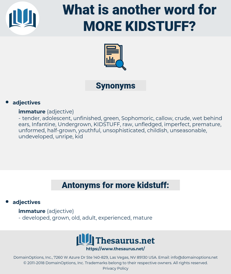 more kidstuff, synonym more kidstuff, another word for more kidstuff, words like more kidstuff, thesaurus more kidstuff