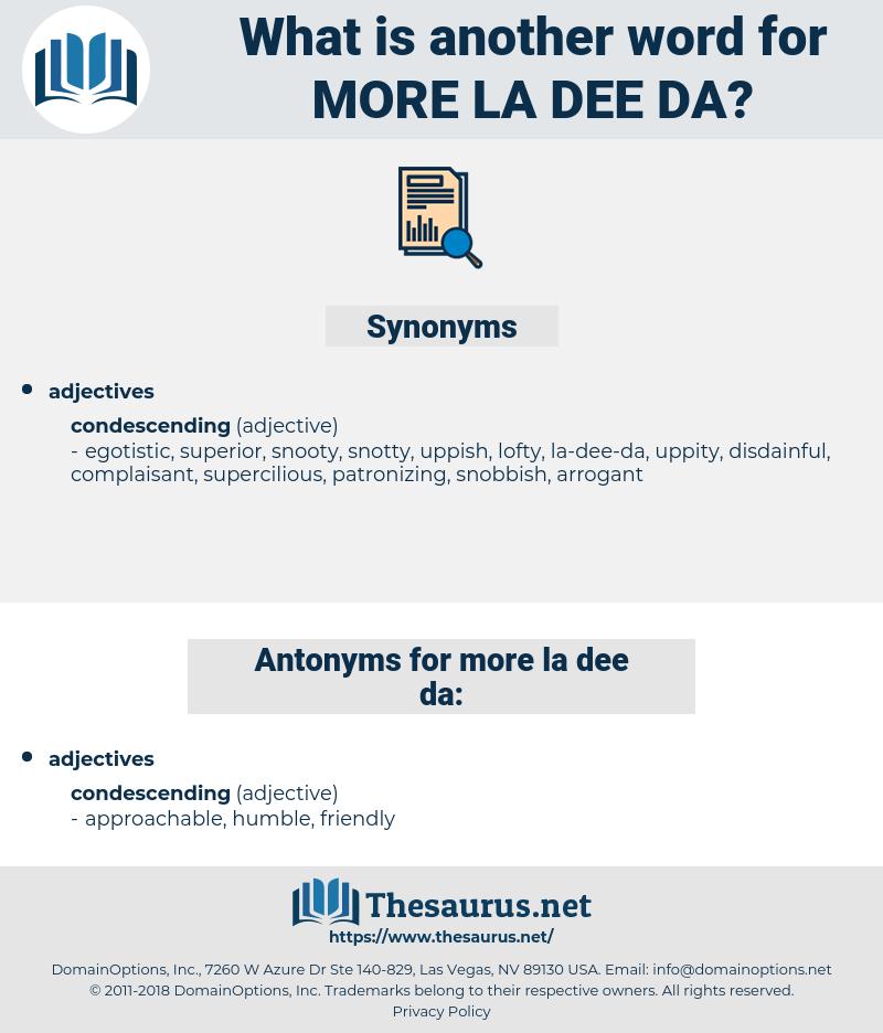 more la-dee-da, synonym more la-dee-da, another word for more la-dee-da, words like more la-dee-da, thesaurus more la-dee-da