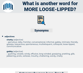 more loose-lipped, synonym more loose-lipped, another word for more loose-lipped, words like more loose-lipped, thesaurus more loose-lipped