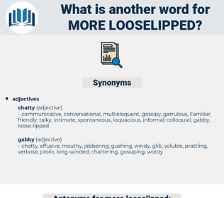 more looselipped, synonym more looselipped, another word for more looselipped, words like more looselipped, thesaurus more looselipped