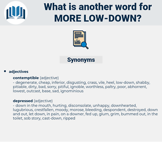 more low-down, synonym more low-down, another word for more low-down, words like more low-down, thesaurus more low-down
