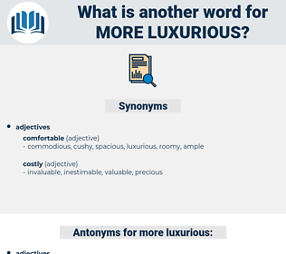 more luxurious, synonym more luxurious, another word for more luxurious, words like more luxurious, thesaurus more luxurious