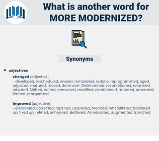 more modernized, synonym more modernized, another word for more modernized, words like more modernized, thesaurus more modernized