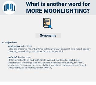 more moonlighting, synonym more moonlighting, another word for more moonlighting, words like more moonlighting, thesaurus more moonlighting