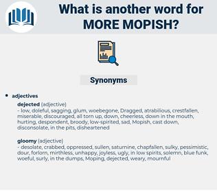 more mopish, synonym more mopish, another word for more mopish, words like more mopish, thesaurus more mopish