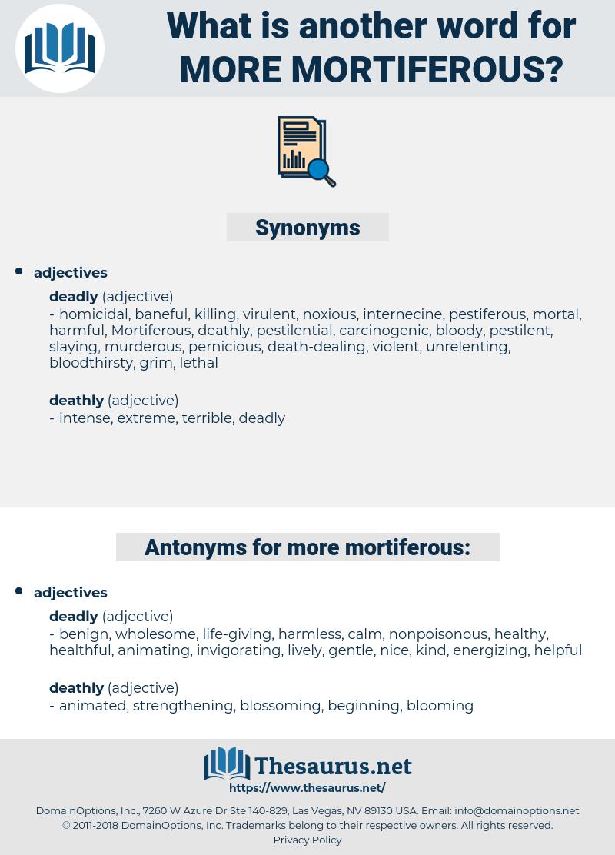 more mortiferous, synonym more mortiferous, another word for more mortiferous, words like more mortiferous, thesaurus more mortiferous