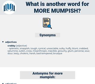 more mumpish, synonym more mumpish, another word for more mumpish, words like more mumpish, thesaurus more mumpish