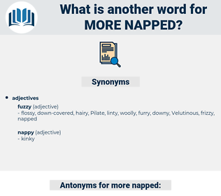 more napped, synonym more napped, another word for more napped, words like more napped, thesaurus more napped