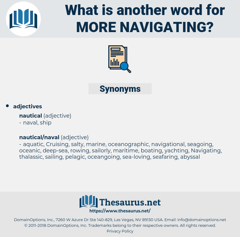 more navigating, synonym more navigating, another word for more navigating, words like more navigating, thesaurus more navigating