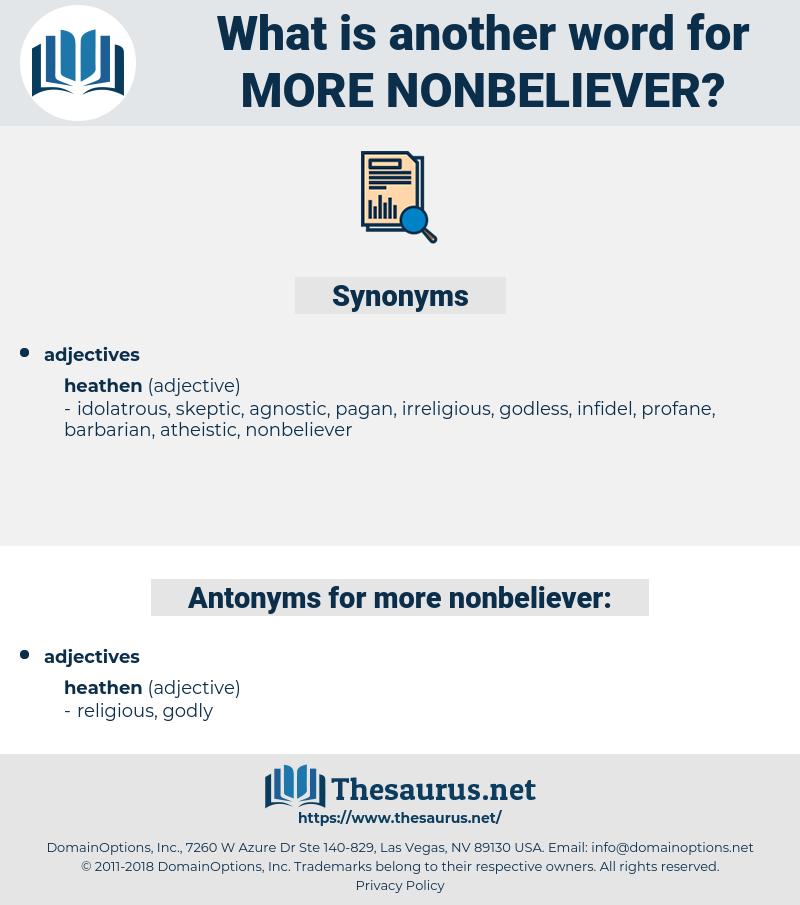 more nonbeliever, synonym more nonbeliever, another word for more nonbeliever, words like more nonbeliever, thesaurus more nonbeliever