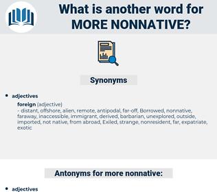 more nonnative, synonym more nonnative, another word for more nonnative, words like more nonnative, thesaurus more nonnative