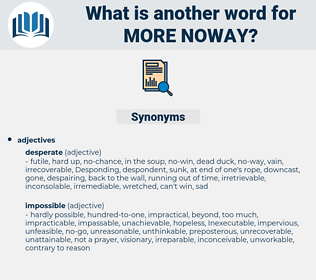 more noway, synonym more noway, another word for more noway, words like more noway, thesaurus more noway