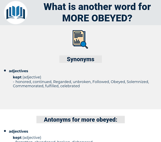 more obeyed, synonym more obeyed, another word for more obeyed, words like more obeyed, thesaurus more obeyed